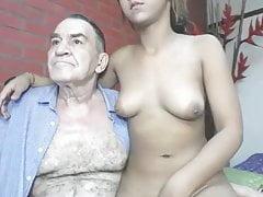 nonno cazzo ragazza