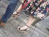 Candid high heels sandals #2