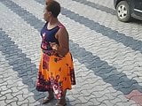 African bbw walking