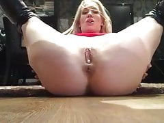 UK Blonde's Creampie