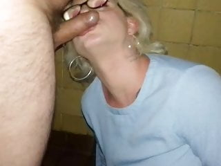 Outdoor Shemale Big Cock Shemale Blowjob Shemale video: Pissed on in public tiolet and chocked slag