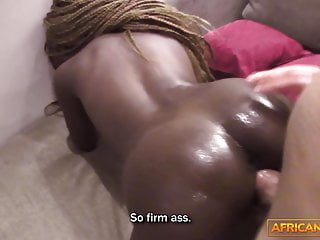 Blowjob Big Cock Babe video: Casting Couch with Skinny Ebony Beauty