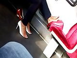 Candid feet in train 1.