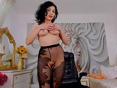 Webcam Strumpfhosen und Stiefel zeigen