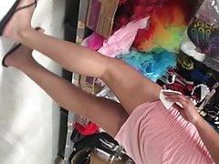 Indian Latina teen long legs nice feet