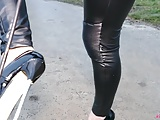 Bdsm Softcore Foot Fetish video: Outdoor walking