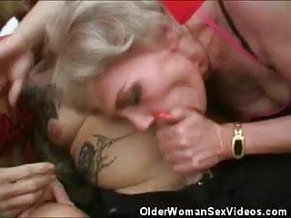 Mature women taking turns cock...