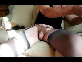 straight transvestite pantyhose lingerie rasage cock fetish