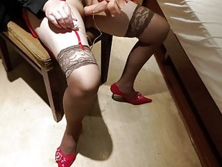 Chinese busy stocking milf need big cock fuck1