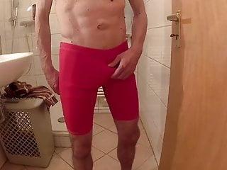 guy in red speedo