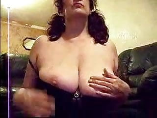 Granny show herself and gets cum on