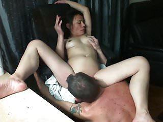 Asian wife get licked untill orgasm...