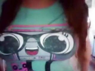 Chubby teen helps me cum  webcam chat