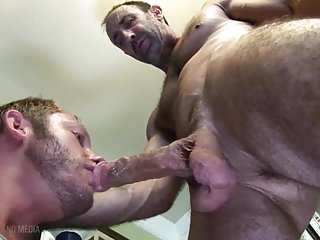 Let daddy's balls slap your chin