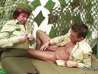 German army uniform milf get fucked by...
