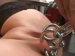 Extreme pussy piercing, spanking and vibrator – Kinkycore