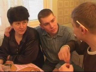 Gangbang Russian Brunette