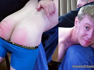 Straight Blonde Boy Gets His First Spanking From A Gay Man