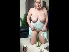 Naughty Granny Plays with her Pussy for the Cam. BBC lover