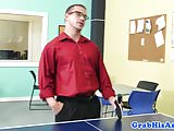 Office newguy trio fucked and facialized