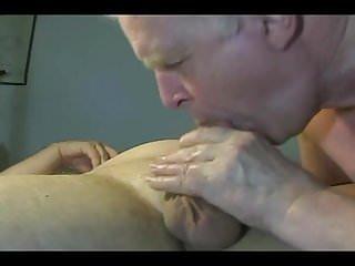 Homemade grandpa blowjob is hot...
