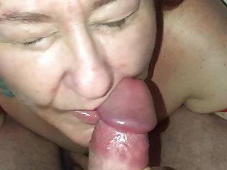 of gets BBW facial and a a cum mouthful Wagtail007