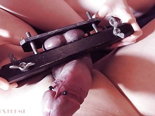 Excessive Ball Squeezing, Slapping & Penis Tease Femdom CBT
