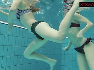 Nastya and Libuse erotic enjoyable underwater