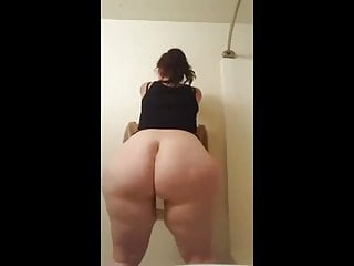Big White Booty Ass Clapping