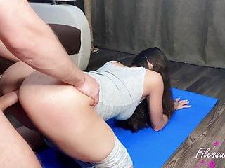 Brunette big dick butt...