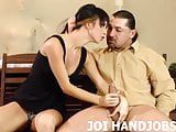 Your big cock feels so good in my tiny little hands JOI
