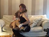 a newbaby film. pixie and the Countess making out