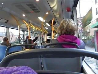Two sluts suck off public bus...