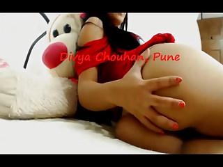 Desi Slut Divya spanking her ass
