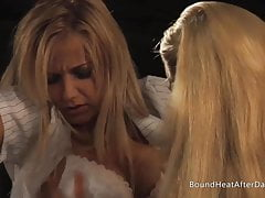 Blonde Lesbian Girl Tied Up And Groped By Madame