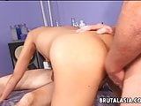 Double penetration for the bitch who loves threesomes