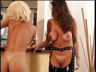 Bored blonde beauty calls girlfriend for lesbian domnation...