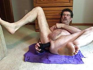 Doug Fucking His Ass With 10 inch Dildo