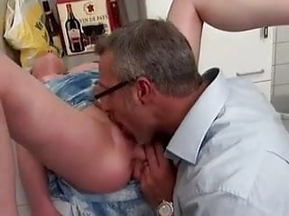 Young fucked in kitchen by older man camaster...