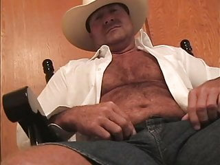 Bisexual Cowboy Muscledaddy Jerkingoff Bedroom