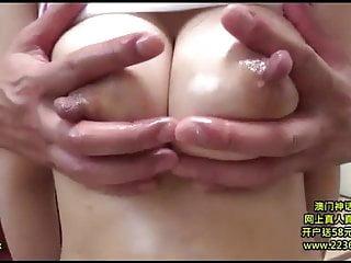 Japanese woman puffy nipple amma massage...