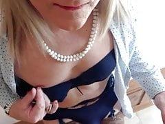 blue bra and briefs