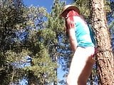 Cross dresser Jimma outdoors slutty CD