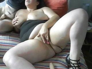 during Webcam Dildo Blowjob with Masturbation
