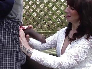 Mature white women seducing young...