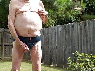 Grandpa in jockstrap