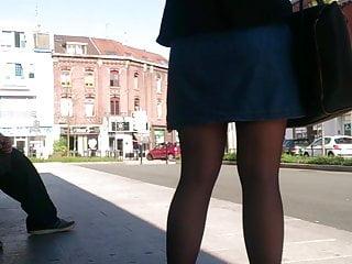 Stockings Big Ass Pantyhose video: stop bus black pantyhose2