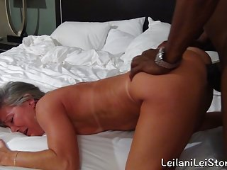 Sex beach milf fucks her bbc lover...