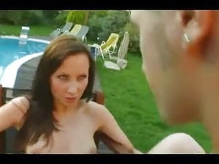 Creampie by the pool