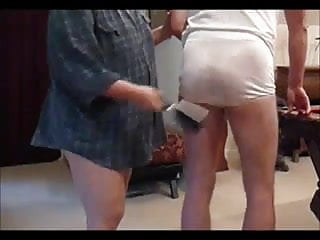 Man spanked in his...